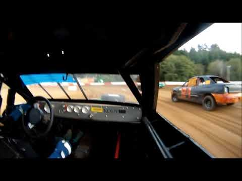 TZR #74 Hornet Heat race in car 10-7-17 Coos Bay Speedway open show