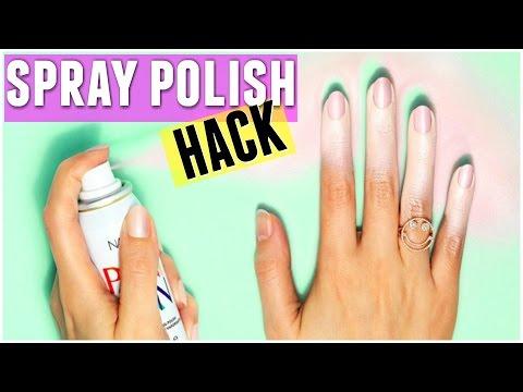 BEAUTY HACK - DIY SPRAY ON NAIL POLISH REVIEW  &  DIY HACK! - Carly Musleh