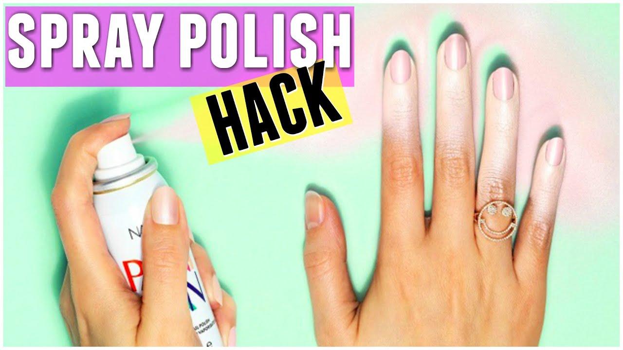 BEAUTY HACK - DIY SPRAY ON NAIL POLISH REVIEW & DIY HACK! - Carly ...