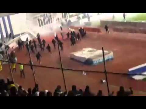 FIGHT HOOLIGANS : Atromitos vs AEK Athens 07.02.2016