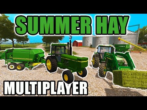 FARMING SIMULATOR 2017 | RAKING, BALING & STACKIN' HAY MULTI