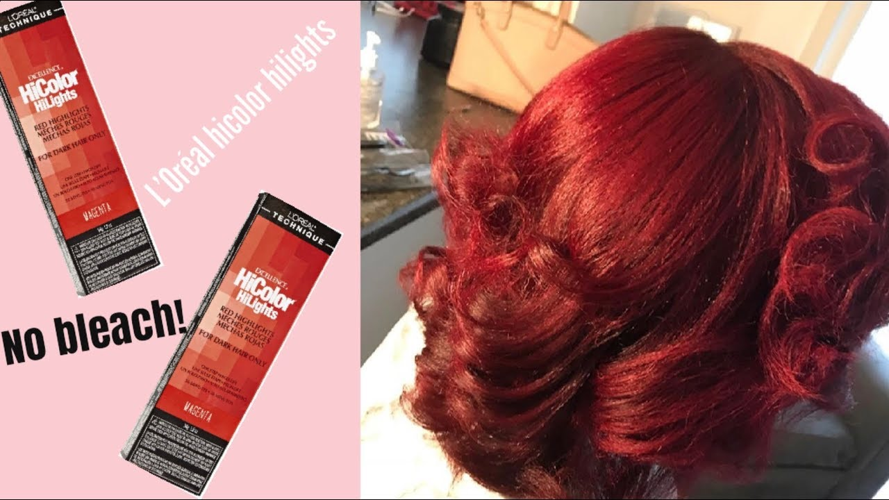How To Dye Your Hair Red Without Bleach Ft Loreal Hicolor