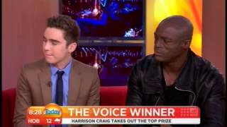 Harrison Craig wins - Today interview with Seal