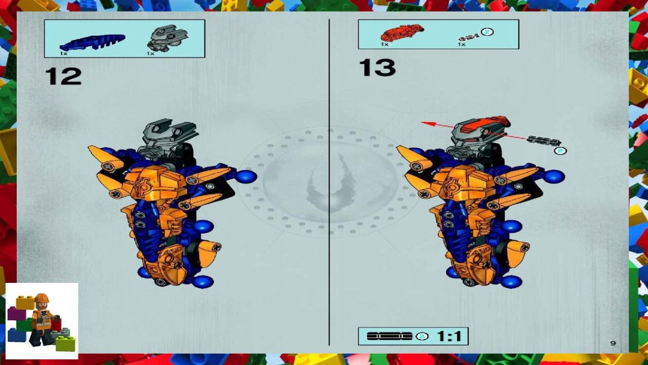 Lego Instructions Bionicle 8734 Brutaka Youtube