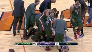 Khris Middleton Rattles in the Three off the Backboard at the Buzzer - Taco Bell Buzzer Beater