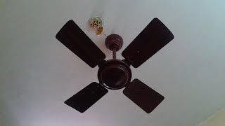 Fastest and Loudest Ceiling Fan ever i saw: It's running in 4 Speeds