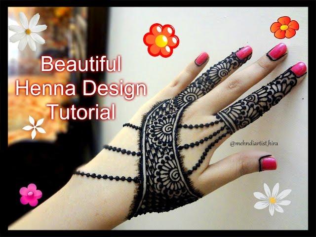 Beautiful Henna Mehndi Jewellery : Latest eid special mehndi designs for hands tutorials