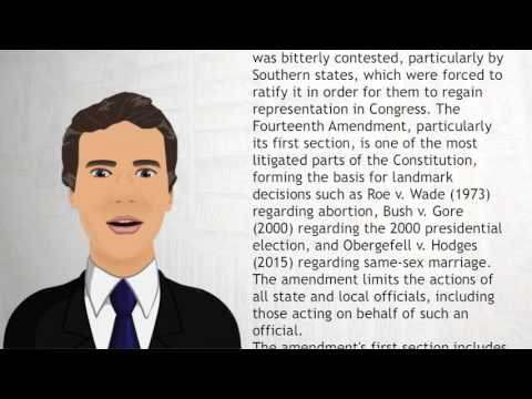 Fourteenth Amendment to the United States Constitution - Wiki Videos