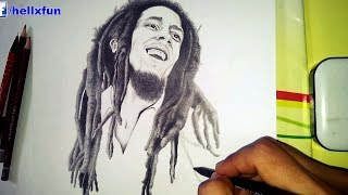 Bob Marley Drawing - speed drawing bob marley
