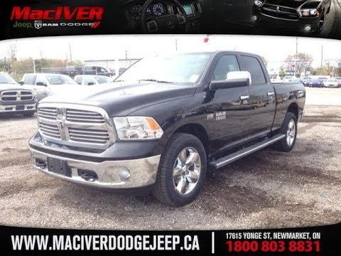 2014 black ram 1500 big horn crew cab newmarket ontario maciver dodge jeep youtube. Black Bedroom Furniture Sets. Home Design Ideas