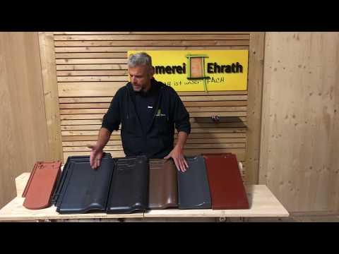 Tondachziegel- Dachziegel- engobiert- glasiert