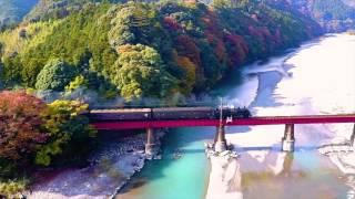 空散歩【ドローン MCO 空撮】 紅葉の大井川鉄道SL そこにある感動をありのまま