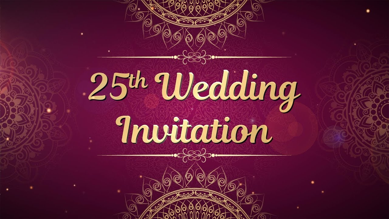 My Parents 25th Wedding Anniversary Invitation Video Silver Jubilee Celebrations