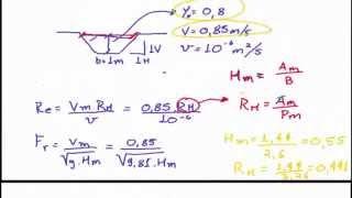 Hidráulica - Exercício: Área molhada, Perímetro Molhado, Raio Hidráulico