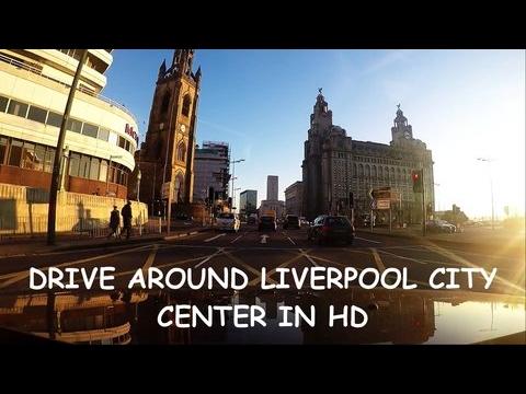 Driving around Liverpool city centre