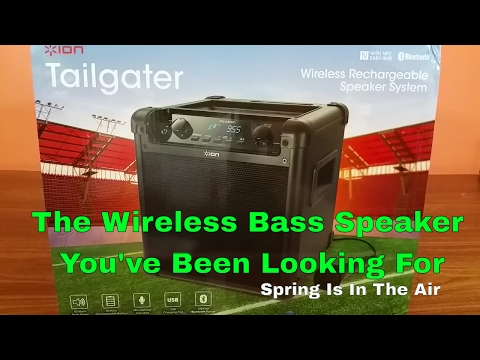ION Tailgater IPA77 Wireless Bluetooth Speaker With Charging Bank