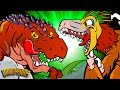 5 Carnivorous Dinosaurs | Meat Eating Dinos | Dinosaur Songs and Cartoons for Kids by Howdytoons