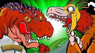 5 Carnivorous Dinosaurs | Meat Eating Dinos | Dinosaur Songs and Cartoons for Howdytoons