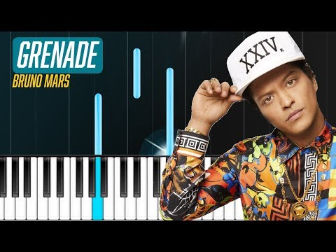 "Bruno Mars - ""Grenade"" Piano Tutorial - Chords - How To Play - Cover"
