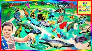 ДИНОЗАВРЫ ДЛЯ ДЕТЕЙ   Учим названия Динозавров Игрушки Динозавры   Мир Динозавров