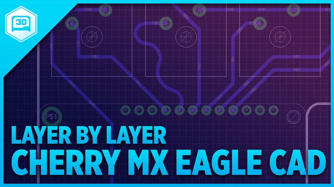 Layer by Layer – Cherry MX Gamepad in Eagle CAD « Adafruit
