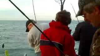 Chicago Lake Michigan Fishing - Waukegan Spring Coho Salmon Action