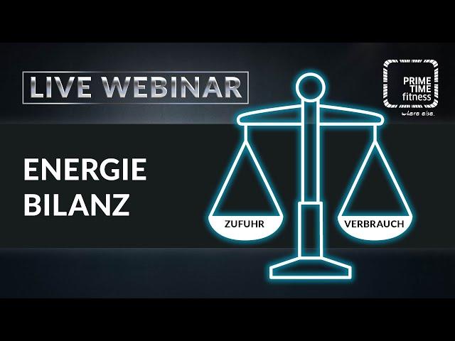 Die Energiebilanz (live Webinar)
