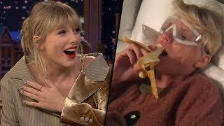 Taylor Swift Has a Melt Down Over a Banana in Hilarious Post-Surgery Video