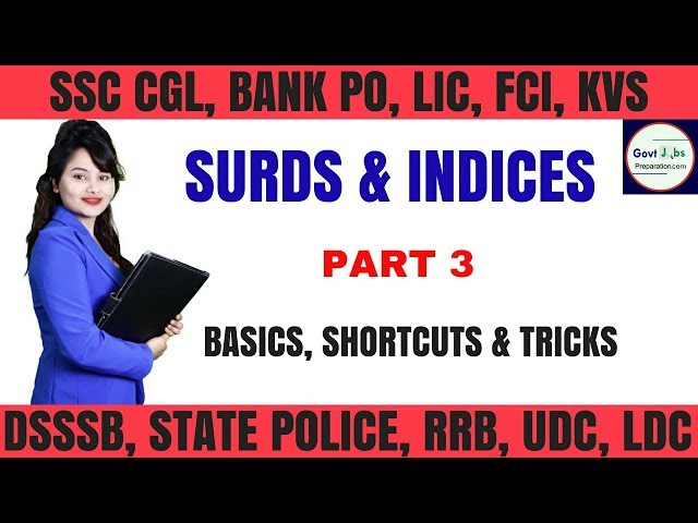 Very Important Question For Ssc & Banking Part 3 - Surds and Indices - Important Formulas