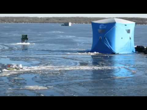 Ice fishing on lake minnewaska youtube for Mn ice fishing show