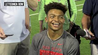 Justin fields met with the media sunday to discuss what he's improved on this summer and new coaching staff as buckeyes concluded day three of traini...