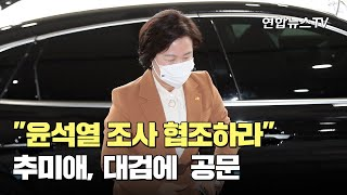 """추미애, 대검에 """"윤석열 조사 협조하라&quo…"""