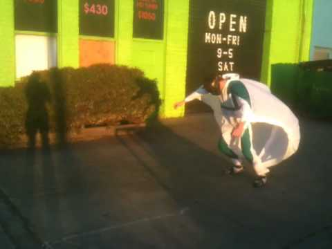 Wing Suit Test for Mariah Hov Wind Machine