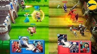 Детский канал - обзор игры Castle Crush. Путь война.