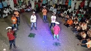 महालक्ष्मी पालकी वाढेगाव ता. सांगोला. लहान येडा ग्रुप डान्स  8-10-2019