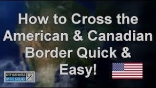 How to Cross Canad border with illegal ways ! Enter Canada with wrong ways!