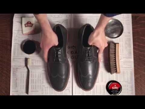 Cách đánh xi bóng giày da | Bảo dưỡng giày KIWI