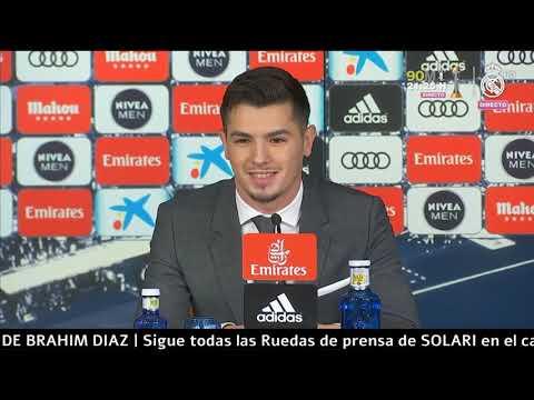 Rueda de prensa : Brahim Diaz