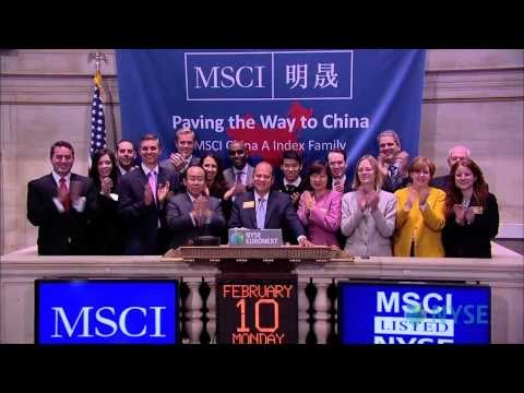 MSCI Visits the New York Stock Exchange to Celebrate the China A Index Family