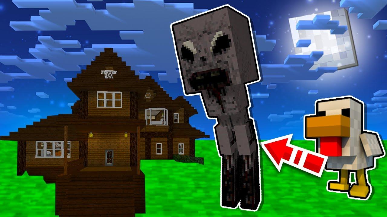 ค้างแรมเดอะซีรีส์ ตอนที่ 1 ไก่ที่เลี้ยงไว้กลายเป็น ผีไก่สุดน่ากลัว!! (Minecraft Story)