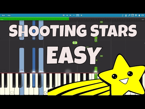 How to play Shooting Stars - EASY Piano Tutorial - Bag Raiders