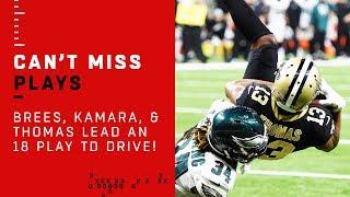 Brees, Kamara, & Thomas Lead an 18-Play TD Drive!