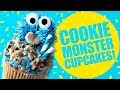 How to decorate COOKIE MONSTER CUPCAKES! - The Scran Line