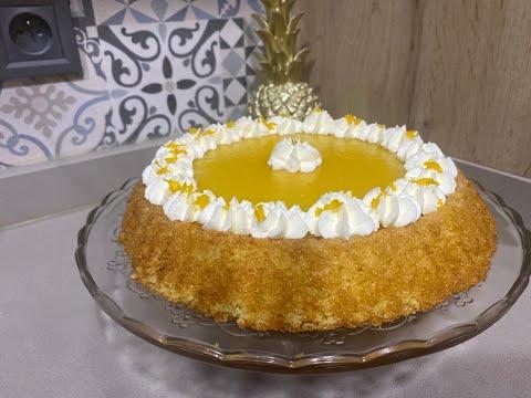 bassboussa-à-la-crème-d'orange-:-recette-facile-et-rapide-بسبوسة-بكريمة-الليمون-سهلة-و-سريعة-التحضير