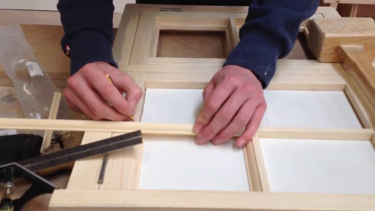 Beading a traditional casement window & Beading a traditional casement window - YouTube