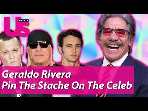 Geraldo Rivera Pin The Stache On The Celebrity