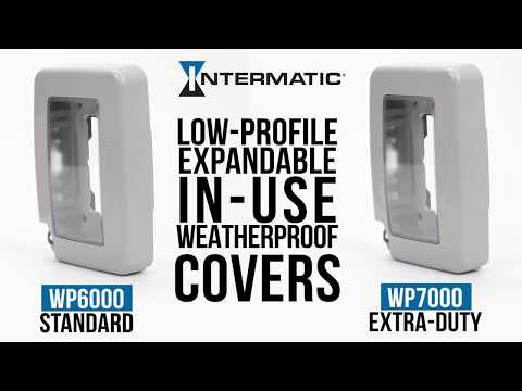 White Intermatic WP7000W Low-Profile Extra-Duty Weatherproof Cover