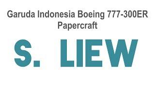 Garuda Indonesia 777-300ER Papercraft