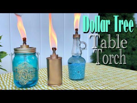 Dollar Tree DIY Table Top TIKI Torch