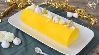 Bûche de Noël façon tarte au citron